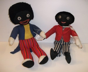 Two golliwog dolls from our collection