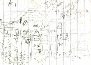 Clara's initial sketch
