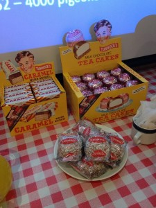 Authentic 1950s curator snacks - come and eat them before we do!