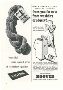 Hoover - no more washday drudgery!