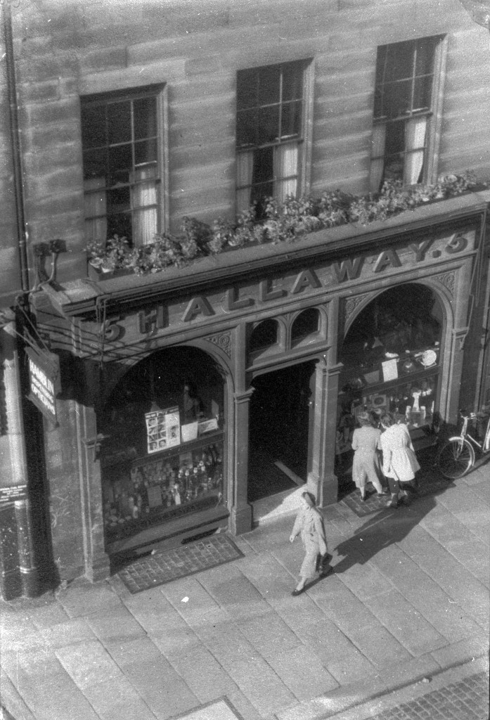 'Hallaway's chemist's of 5 Devonshire Street, Carlisle. Photographed in the 1950s by James Hall, the last owner.