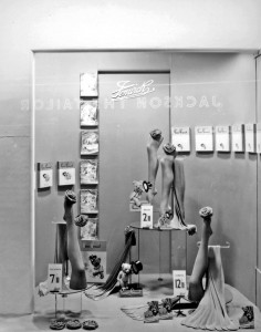Stocking Display at Fenwicks department store in Newcastle - 1950s.