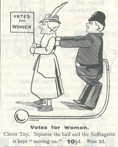 Squeeze the ball, move the suffragette