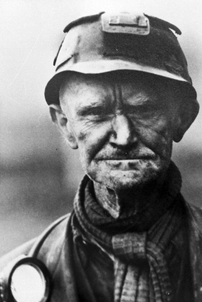 Ashington Collieries - portrait of a miner. 1950s